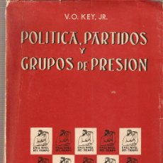 Libros de segunda mano: POLÍTICA, PARTIDOS Y GRUPOS DE PRESIÓN. V.O. KEY JR. Lote 18485677