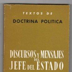 Libros de segunda mano: DISCURSOS Y MENSAJES DEL JEFE DEL ESTADO 1968-1970.EDICION CRONOLOGICA. PUBLICACIONES ESPAÑOLAS.1971. Lote 18794310