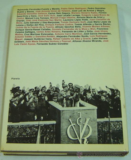 Libros de segunda mano: FRANCO VISTO POR SUS MINISTROS-Col.ESPEJO DE ESPAÑA-Planeta 1981 - Foto 2 - 27262084