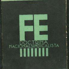 Libros de segunda mano: ANTIGUO LIBRO **DOCTRINA NACIONALSINDICALISTA** Nº 2 FALANGE ESPAÑOLA AÑO 1937 . Lote 24453833