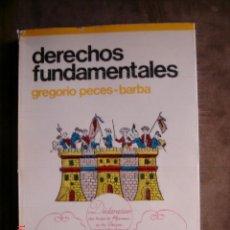 Libros de segunda mano: DERECHOS FUNDAMENTALES. GREGORIO PECES-BARBA.ED. GUADIANA,1976.ENSAYO-POLITICA. Lote 154893873