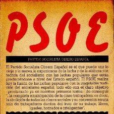 Libros de segunda mano: PSOE. FRANCISCO BUSTELO GREGORIO PECES-BARBA CIRIACO DE VICENTE VIRGILIO ZAPATERO. 1976. Lote 24950718
