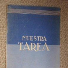 Libros de segunda mano: NUESTRA TAREA. EL MARXISMO Y EL ANTIMARXISMO VISTOS POR JOSÉ ANTONIO. FALANGE. 1939 . Lote 26800812