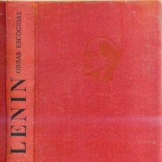 Libros de segunda mano: LENIN : OBRAS ESCOGIDAS TOMO III -ESCRITOS DE 1905 A 1912. Lote 26818438