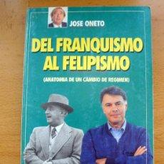Libros de segunda mano: LIBRO DE JOSÉ ONETO, DEL FRANQUISMO AL FELIPISMO TIEMPO GRUPO Z 1992. Lote 27732851