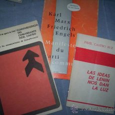 Libros de segunda mano: 3 FOLLETOS COMUNISTAS AÑOS 60 FIDEL CASTRO CUBA MOSCU. Lote 30228514