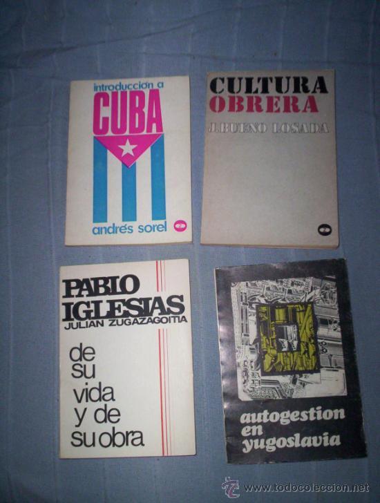 OPOSICION ANTIFRANQUISTA - AÑOS 60 - 2 TOMOS - COMUNISMO, CUBA, CULTURA OBRERA (Libros de Segunda Mano - Pensamiento - Política)