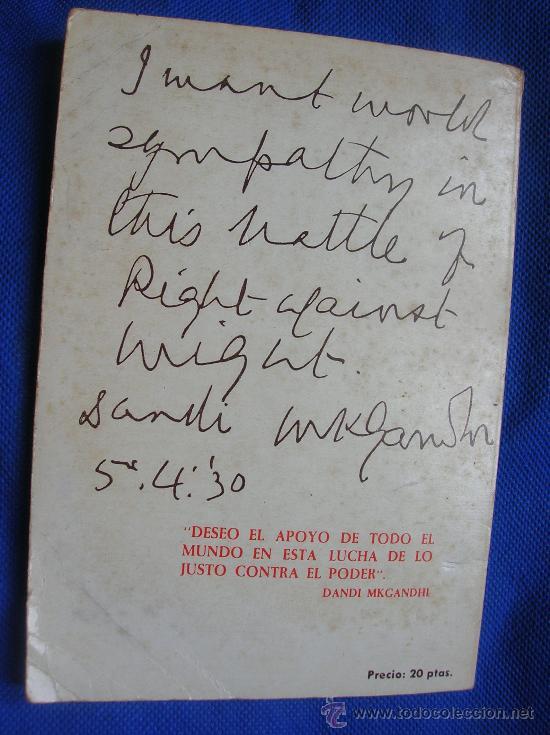 Libros de segunda mano: EL PENSAMIENTO POLÍTICO DE GANDHI -Por Ana Fraga 1971 - Foto 2 - 31279887