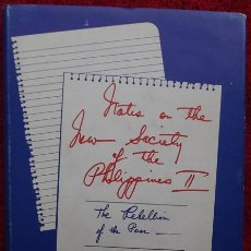 Libros de segunda mano: NOTES ON THE NEW SOCIETY OF THE PHILIPPINES II. THE REBELLION OF THE POOR - FERDINAND MARCOS (1976). Lote 31679773