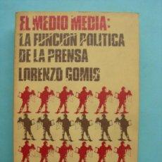 Libros de segunda mano: EL MEDIO MEDIA: LA FUNCIÓN POLÍTICA DE LA PRENSA LORENZO GOMIS. Lote 169965698