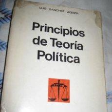 Libros de segunda mano: PRINCIPIOS DE TEORIA POLITICA - LUIS SANCHEZ AGESTA - 1.967. Lote 32658556