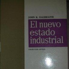 Libros de segunda mano: GALBRAITH, JOHN K.: EL NUEVO ESTADO INDUSTRIAL, ARIEL, BARCELONA, 1968. Lote 32828790