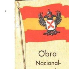 Libros de segunda mano: OBRA NACIONAL CORPORTATIVA, PUNTOS BÁSICOS, NAVARRO Y DEL TESO, SAN SEBASTIÁN, 22PÁGS, 12X17CM. Lote 34178633