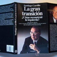 Libros de segunda mano: CARRILLO. LA GRAN TRANSICIÓN ¿CÓMO RECONSTRUIR LA IZQUIERDA?, POR SANTIAGO CARRILLO. Lote 32905901