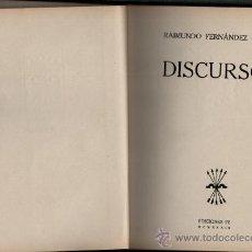 Libros de segunda mano: RAIMUNDO FERNANDEZ CUESTA DISCURSOS EDICIONES FE 1939. Lote 35732794
