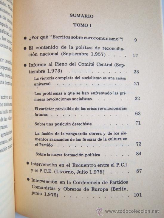 Libros de segunda mano: Santiago Carrillo. Escritos sobre Eurocomunismo. Socialismo en libertad. - Foto 2 - 37580922