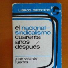 Libros de segunda mano: EL NACIONAL-SINDICALISMO CUARENTA AÑOS DESPUÉS FALANGE JONS FRANQUISMO SINDICATOS VERTICALES. Lote 38128008