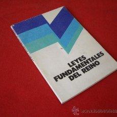 Libros de segunda mano: LEYES FUNDAMENTALES DEL REINO - DONCEL 1975 -. Lote 38802352