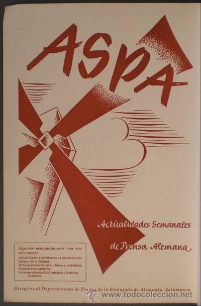 EL TRIUNFO DEL TRABAJO. UNA ANTOLOGÍA DE ASPA (ACTIVIDADES SEMANALES DE PRENSA ALEMANA). (Libros de Segunda Mano - Pensamiento - Política)
