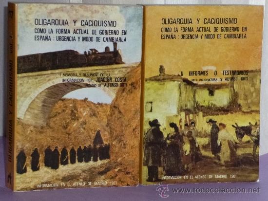 OLIGARQUIA Y CACIQUISMO.COMO LA FORMA ACTUAL DE GOBIERNO EN ESPAÑA:URGENCIA Y MODO DE CAMBIARLA.(2V) (Libros de Segunda Mano - Pensamiento - Política)