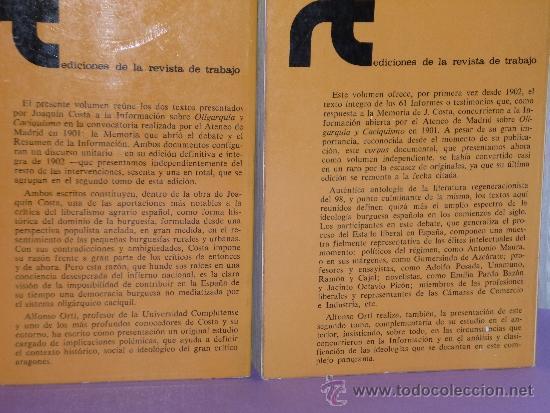 Libros de segunda mano: OLIGARQUIA Y CACIQUISMO.COMO LA FORMA ACTUAL DE GOBIERNO EN ESPAÑA:URGENCIA Y MODO DE CAMBIARLA.(2v) - Foto 2 - 39137014