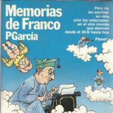 Libros de segunda mano: MEMORIAS DE FRANCO. P. GARCÍA. PLANETA. BARCELONA. 1984. Lote 39275081