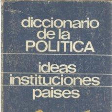 Libros de segunda mano: DICCIONARIO DE LA POLÍTICA. JEAN-NOËL AQUISTAPACE. ED. MAGISTERIO ESPAÑOL. MADRID. 1969. Lote 39371568