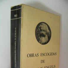 Libros de segunda mano: OBRAS ESCOGIDAS MARX Y ENGELS TOMO I ,1975,FUNDAMENTOS ED, REF MARX. Lote 39536465