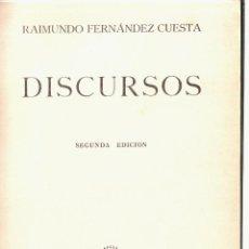Libros de segunda mano: RAIMUNDO FERNÁNDEZ CUESTA. DISCURSOS. ED. NACIONAL, 1942. FALANGE. Lote 40338740