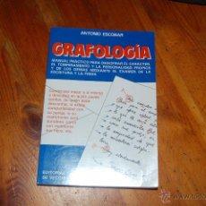 Libros de segunda mano: LIBRO / GRAFOLOGIA / ANTONIO ESCOBAR / 1ª EDICION / 1993. Lote 40348137