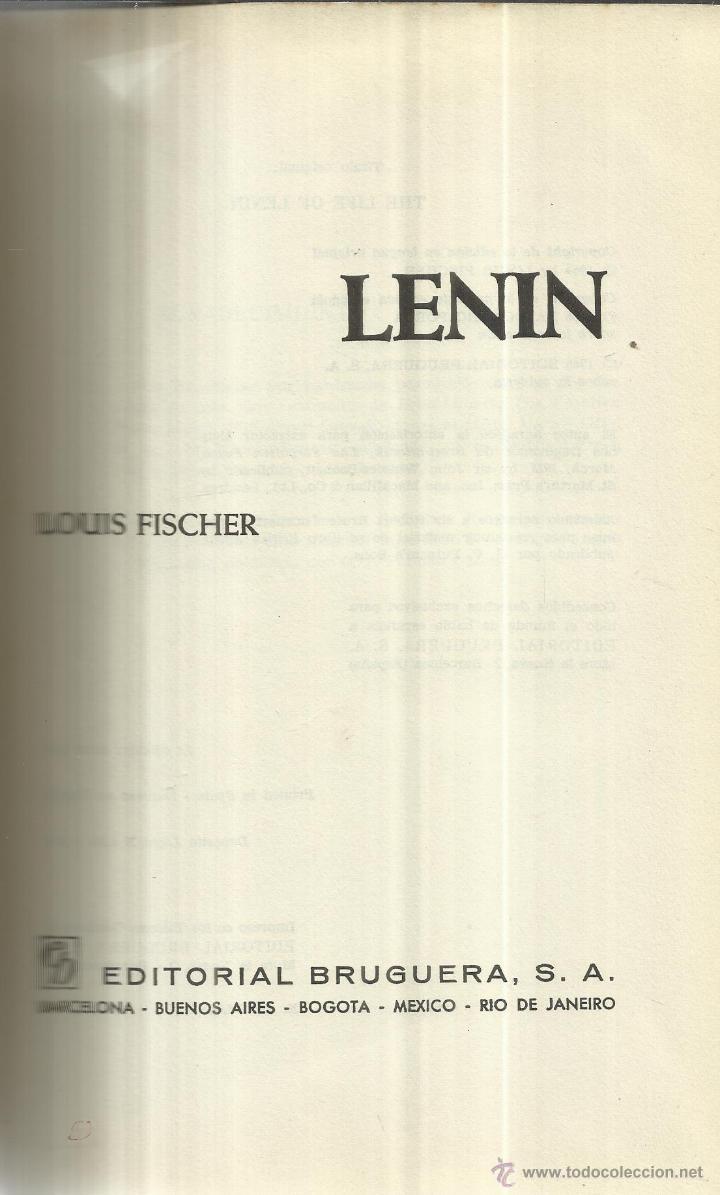 LENIN. LOUIS FISCHER. EDITORIAL BRUGUERA. BARCELONA. 1966 (Libros de Segunda Mano - Pensamiento - Política)