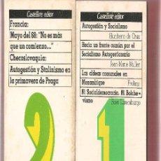 Libros de segunda mano: AUTOGESTION Y SOCIALISMO TOMOS 1 2 Y 3 ANARQUISMO. Lote 156873373