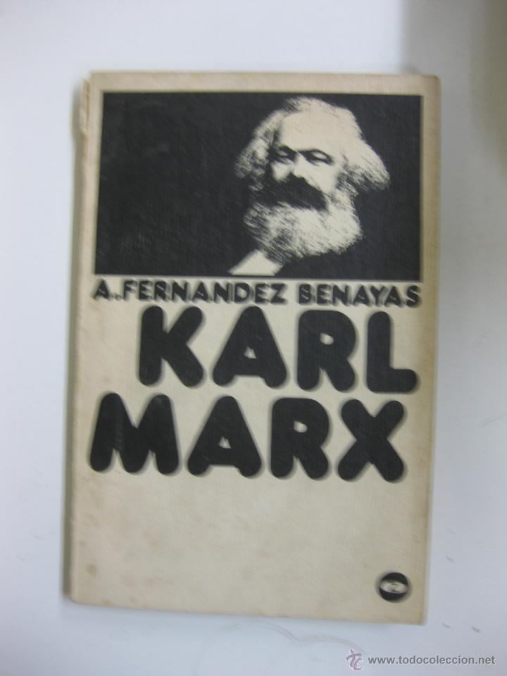 KARL MARX. FERNANDEZ BENAYAS. COLECCION BIBLIOTECA PROMOCION DEL PUEBLO Nº 45 (Libros de Segunda Mano - Pensamiento - Política)