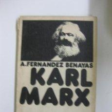 Libros de segunda mano: KARL MARX. FERNANDEZ BENAYAS. COLECCION BIBLIOTECA PROMOCION DEL PUEBLO Nº 45. Lote 40940026