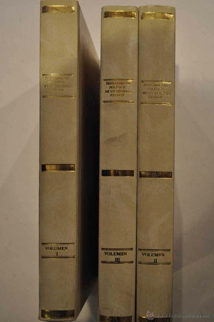 Libros de segunda mano: Pensamiento político de un General: Franco. Tomos I, II y III. TRES TOMOS. RM64193 - Foto 2 - 41139732
