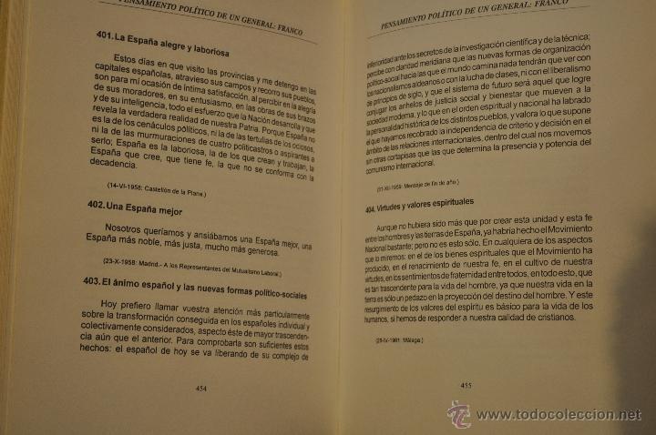 Libros de segunda mano: Pensamiento político de un General: Franco. Tomos I, II y III. TRES TOMOS. RM64193 - Foto 3 - 41139732