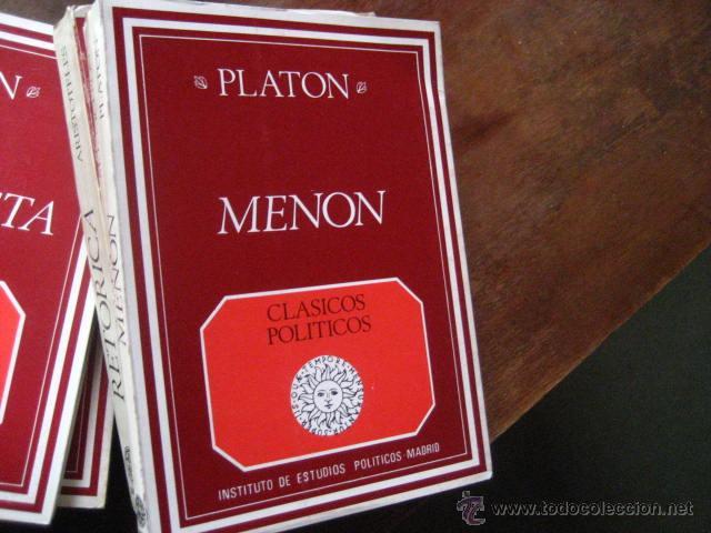 MENON, PLATON, TR RUIZ DE ELVIRA, CLASICOS POLITICOS, EDICION BILINGUE, BOLS6 (Libros de Segunda Mano - Pensamiento - Política)