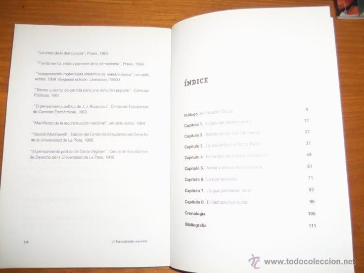Libros de segunda mano: SILVIO FRONDIZI, UN FRANCOTIRADOR MARXISTA, por H. Brienza - Argentina - 2006 - RARO! - Foto 3 - 41373510