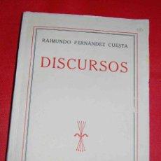 Libros de segunda mano: FERNÁNDEZ CUESTA, RAIMUNDO. DISCURSOS. FE, 1939. 16.5X23. RÚSTICA. Lote 41549320