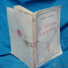 Libros de segunda mano: EL ESTADO NACIONAL - ONÉSIMO REDONDO - EDICIONES FE AÑO DE LA VICTORIA 1939. Lote 42273405
