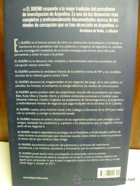 Libros de segunda mano: El Dueño - Luis Majul - Planeta - 1ª ed. 2010 - 517 pag. - Foto 3 - 42551841