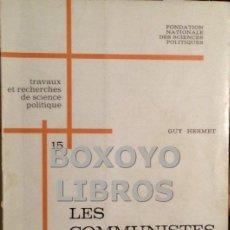 Libros de segunda mano: HERMET, GUY. LES COMMUNISTES EN ESPAGNE. EN FRANCÉS. Lote 39595453