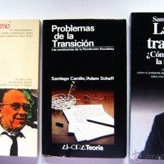 Libros de segunda mano: CARRILLO. 3 LIBROS. EUROCOMUNISMO Y ESTADO, LA GRAN TRANSICIÓN Y PROBLEMAS TRANSICIÓN ADAM SHAFF. Lote 42932752