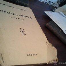 Libros de segunda mano - Formación Política. Cuarto curso. Sección Femenina de Falange. - 43457433