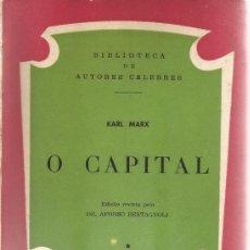 Libros de segunda mano: KARL MARX. O CAPITAL. RM65617. . Lote 43483846