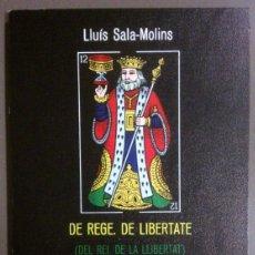 Libros de segunda mano: DE REGE. DE LIBERTATE (DEL REI. DE LA LLIBERTAT) DE LLUÍS SALA-MOLINS. EDITIONS DU MOUFLON (1988). Lote 43503050