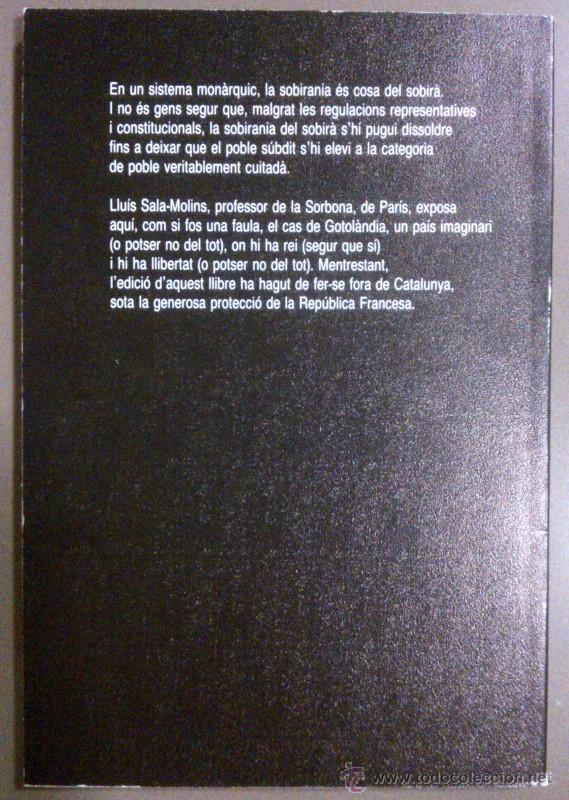 Libros de segunda mano: De Rege. De Libertate (Del rei. De la Llibertat) de Lluís Sala-Molins. Editions du Mouflon (1988) - Foto 2 - 43503050