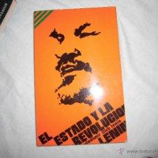 Libros de segunda mano: EL ESTADO Y LA REVOLUCION .LENIN .MIGUEL CASTELLOTE 1976. Lote 43689589