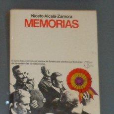 Libros de segunda mano: LIBRO: ALCALÁ-ZAMORA: 'MEMORIAS' (1977). Lote 44241161