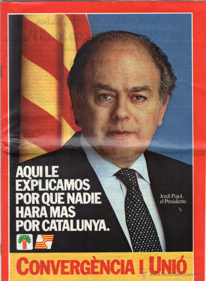PROGRAMA ELECTORAL DE CONVERGENCIA I UNIÓ - CIU - JORDI PUJOL - AÑO 1982. (Libros de Segunda Mano - Pensamiento - Política)